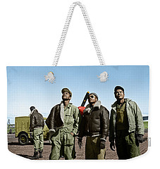 Weekender Tote Bag featuring the photograph Tuskegee Airmen by Granger