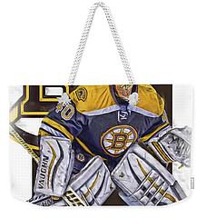 Tuukka Rask Boston Bruins Oil Art 1 Weekender Tote Bag by Joe Hamilton