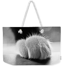 Tuxedo Cat Paw Black And White Weekender Tote Bag