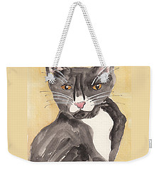 Tuxedo Cat With Attitude Weekender Tote Bag by Terry Taylor