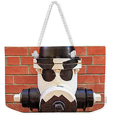 Weekender Tote Bag featuring the photograph Tuxedo Hydrant by James Eddy