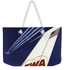 Twa Star Stream Jet - Minimalist Vintage Advertising Poster Weekender Tote Bag