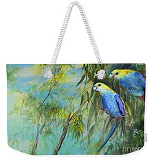 Two Pale-faced Rosellas Weekender Tote Bag