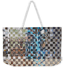 Weekender Tote Bag featuring the mixed media Tweed by Jan Bickerton