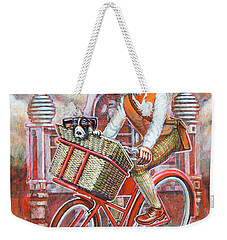 Tweed Runner On Red Pashley Weekender Tote Bag