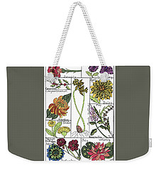 Twelve Month Flower Box Weekender Tote Bag
