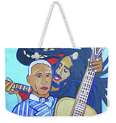 Weekender Tote Bag featuring the painting Twelve Strings by Denise Weaver Ross