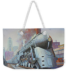 Weekender Tote Bag featuring the painting Twenthieth Century Limited by Mike Jeffries