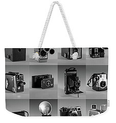 Twenty Old Cameras - Black And White Weekender Tote Bag
