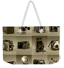 Twenty Old Cameras - Sepia Weekender Tote Bag