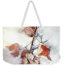Weekender Tote Bag featuring the photograph Twigged by Pennie  McCracken
