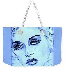 Twiggy In Blue Weekender Tote Bag