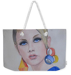 Twiggy The 60's Fashion Icon Weekender Tote Bag