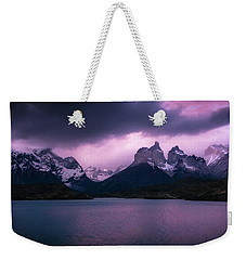 Weekender Tote Bag featuring the photograph Twilight Over The Lake by Andrew Matwijec