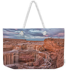 Weekender Tote Bag featuring the photograph Twilight At Chocolate Falls by Tom Kelly