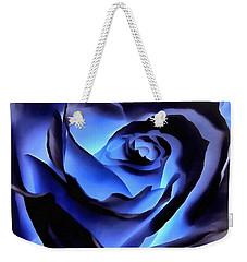 Twilight Blue Rose  Weekender Tote Bag
