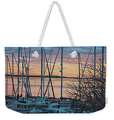 Twilight Boats Weekender Tote Bag