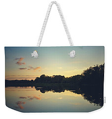 Weekender Tote Bag featuring the photograph Twilight by Karen Stahlros
