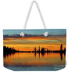 Twilight Lake Reflections In Colorado Weekender Tote Bag
