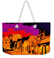 Twilight On The Plaza Santa Fe Weekender Tote Bag