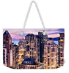 Twilight Over English Bay Vancouver Weekender Tote Bag by Amyn Nasser