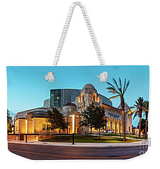 Twilight Panorama Of Tobin Center For The Performing Arts - Downtown San Antonio Texas Weekender Tote Bag