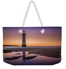 Twilight Reflection, New Brighton Lighthouse Weekender Tote Bag