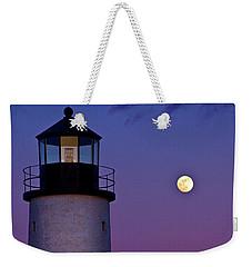 Twilight At Sandy Neck Lighthouse Weekender Tote Bag
