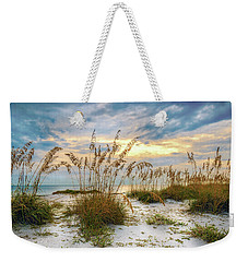 Twilight Sea Oats Weekender Tote Bag by Steven Sparks