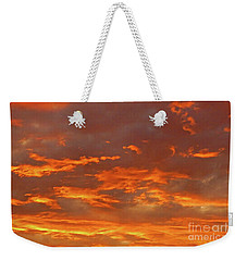 Weekender Tote Bag featuring the photograph Twilight Sky by Val Miller