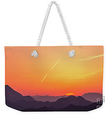 Weekender Tote Bag featuring the photograph Twilight by Tatsuya Atarashi
