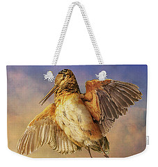 Twilight Woodcock Rising Weekender Tote Bag by R christopher Vest