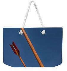 Twin Arrows Weekender Tote Bag by David Cote