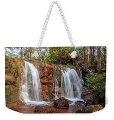 Twin Falls At Ironstone Gully Weekender Tote Bag
