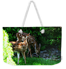 Twin Fawns Weekender Tote Bag by Katie Wing Vigil