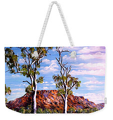 Twin Ghost Gums Of Central Australia Weekender Tote Bag