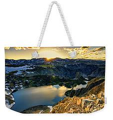 Twin Lakes Sunset Weekender Tote Bag