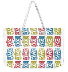 Twin Lens Camera Pattern Weekender Tote Bag