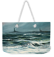 Twin Lights Rockport Ma Weekender Tote Bag by Eileen Patten Oliver