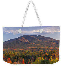 Twin Mountain Autumn Sunset Weekender Tote Bag