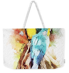 Twin Parrots Weekender Tote Bag by Greg Collins
