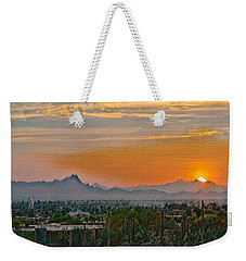 Weekender Tote Bag featuring the photograph Twin Peaks Sunset Remix by Dan McManus
