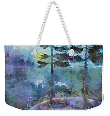Weekender Tote Bag featuring the photograph Twin Pines by Claire Bull