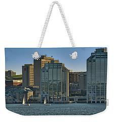 Twin Purdy Towers Of Halifax Weekender Tote Bag by Ken Morris