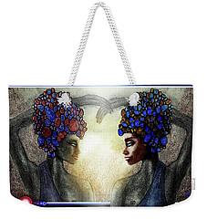 Twin Sisters Weekender Tote Bag
