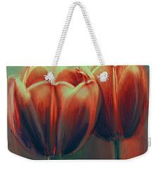 Twin Tulips Weekender Tote Bag