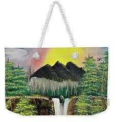 Twin Waterfalls Weekender Tote Bag