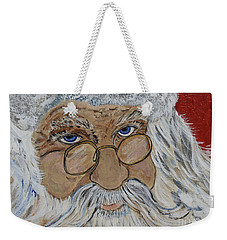 Twinkle In His Eye - Santa Weekender Tote Bag