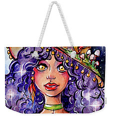 Twinkle Witch Weekender Tote Bag by Nada Meeks