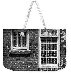 Weekender Tote Bag featuring the photograph Twins - Bw by Christopher Holmes